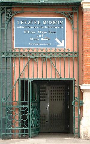 Bühneneingang Londonder Theatermuseum